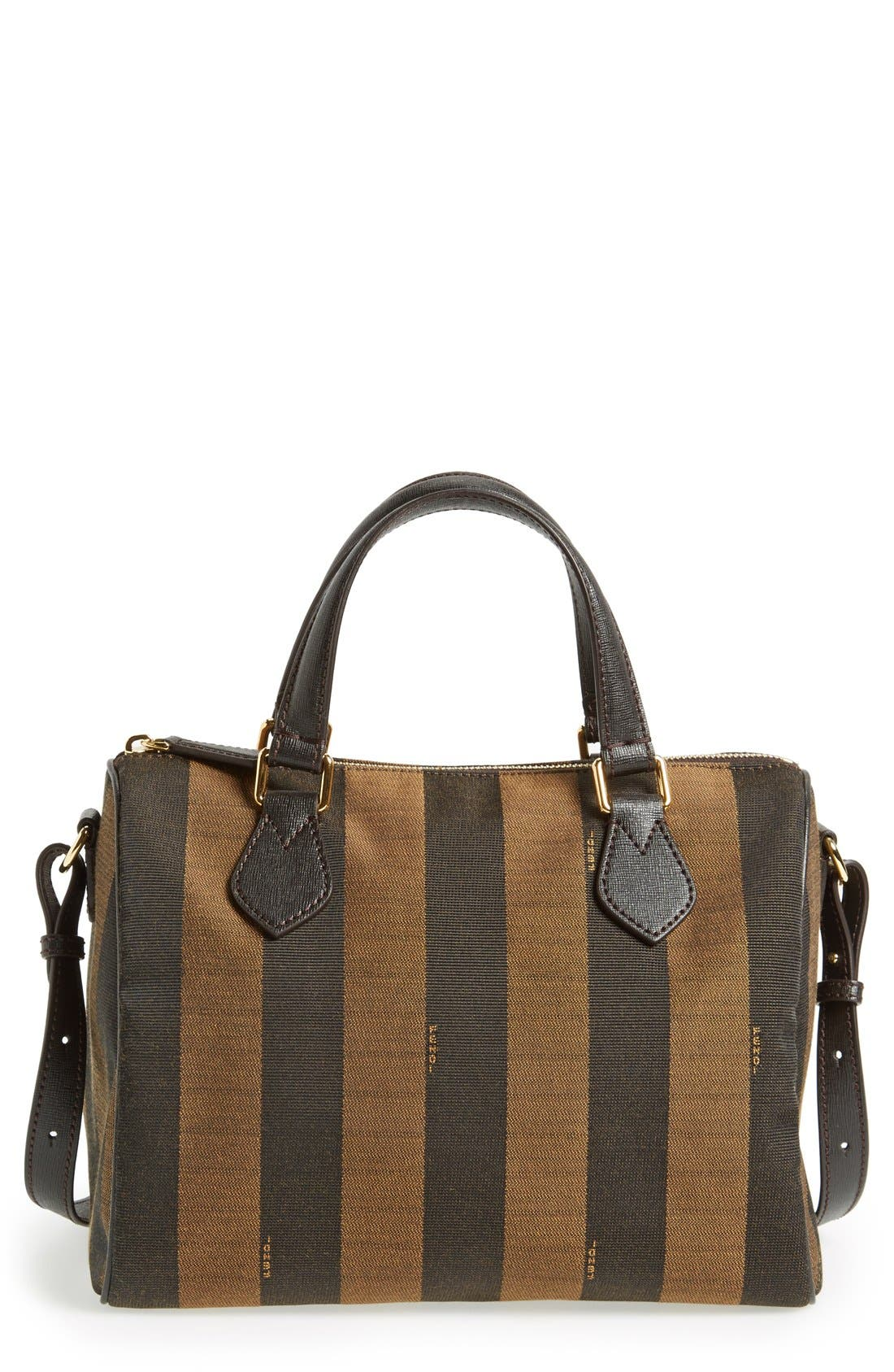 Alternate Image 1 Selected - Fendi 'Small Pequin' Logo Jacquard Shoulder Bag