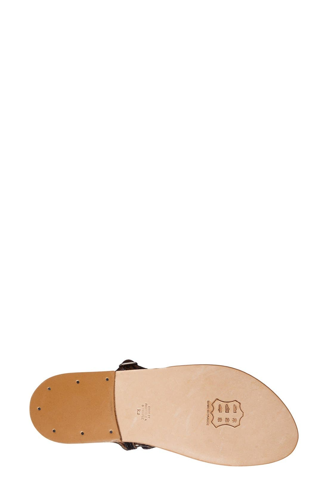 Alternate Image 4  - K.Jacques St. Tropez 'Triton' V Strap Calf Hair Thong Sandal (Women)