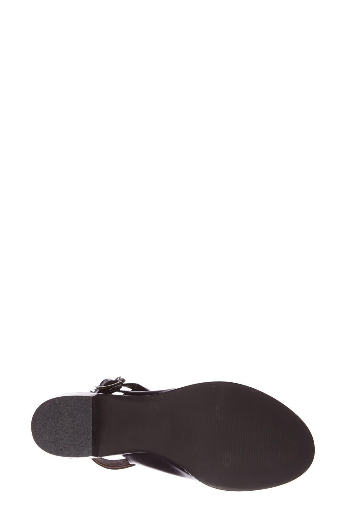 'Jolie' Bootie Sandal,                             Alternate thumbnail 4, color,                             Black