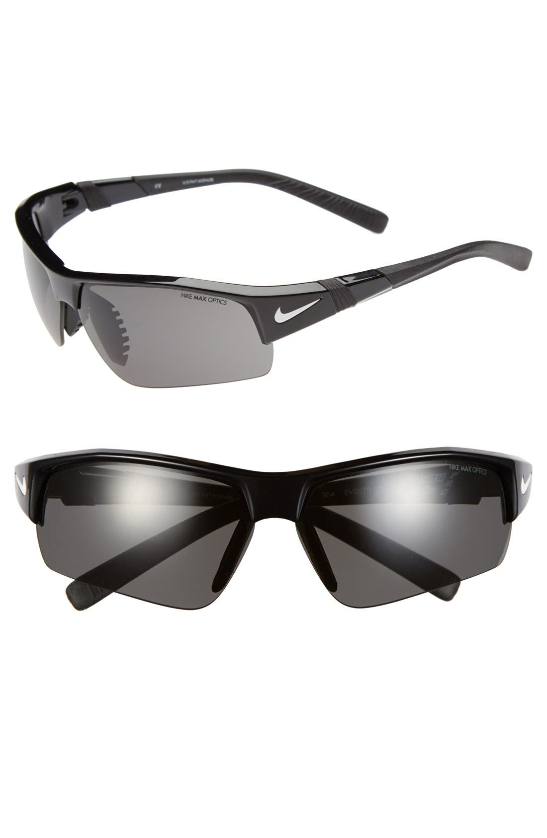 Alternate Image 1 Selected - Nike 'Show X2 Pro' Semi Rimless 69mm Sunglasses