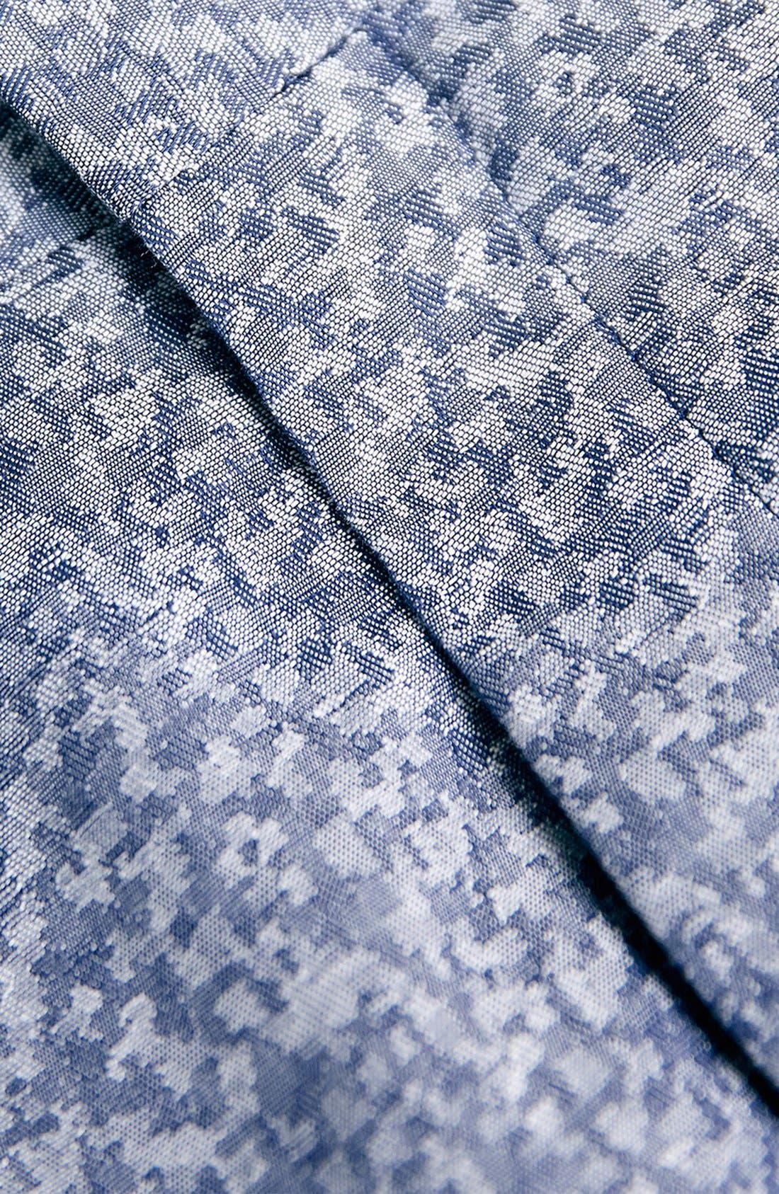 Alternate Image 3  - Topman Skinny Fit Print Suit Trousers