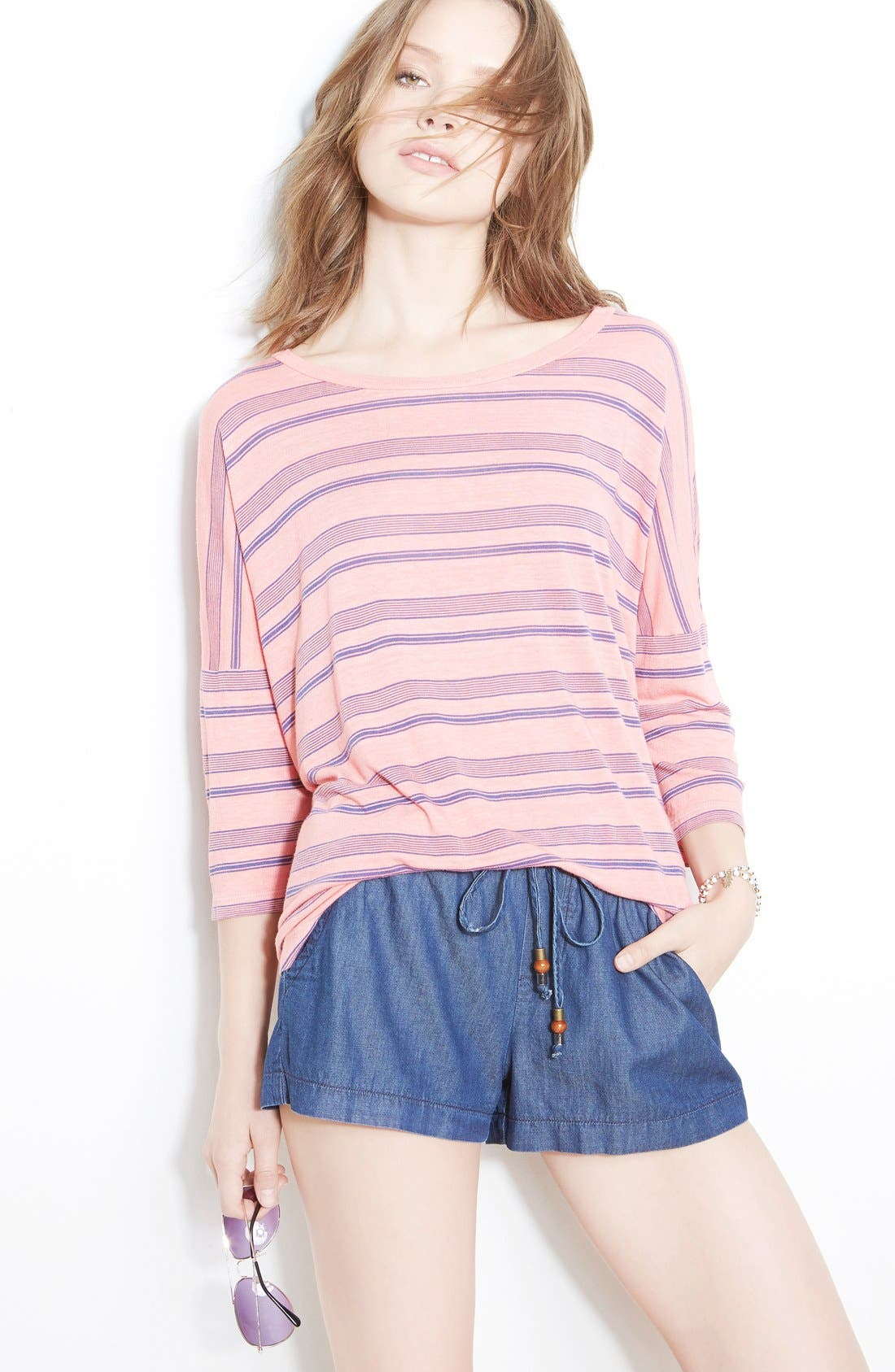 Alternate Image 4  - Splendid Indigo Dye Shorts