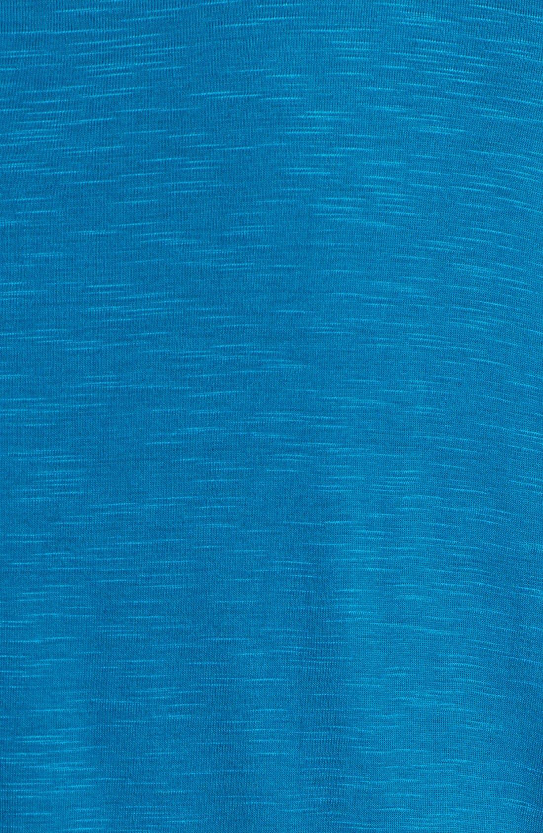 Alternate Image 3  - Sejour 'Reese' Short Sleeve Burnout Front Tee (Plus Size)