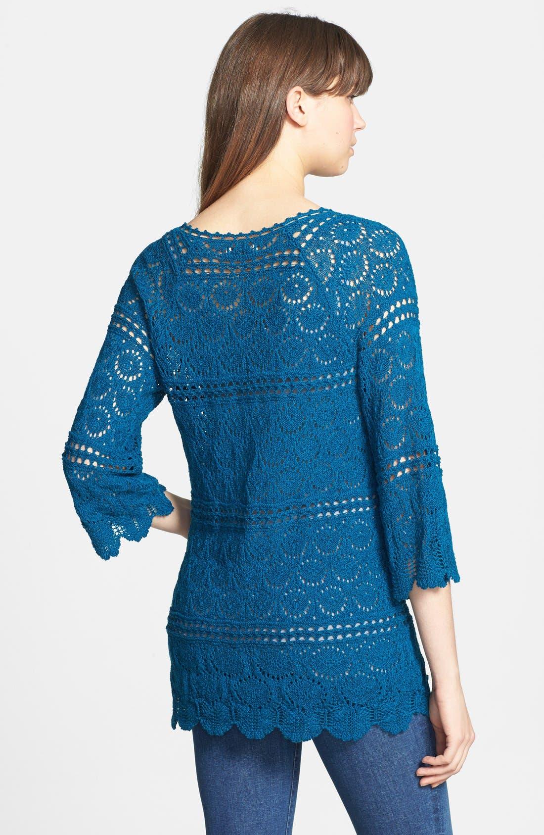 Alternate Image 2  - Lucky Brand 'Sapphire' Crochet Tunic