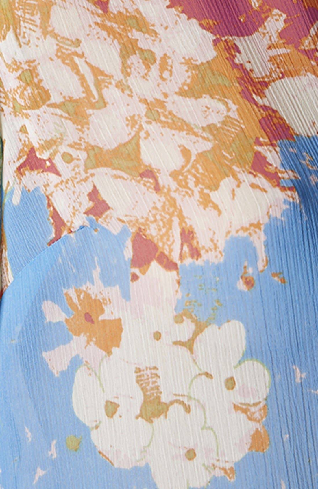 Alternate Image 3  - Topshop 'Zoe' Floral Print Short Sleeve Blouse