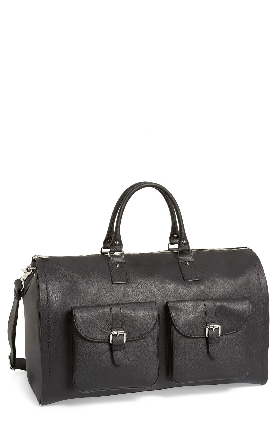 Main Image - hook + ALBERT Saffiano Leather Garment/Duffel Bag