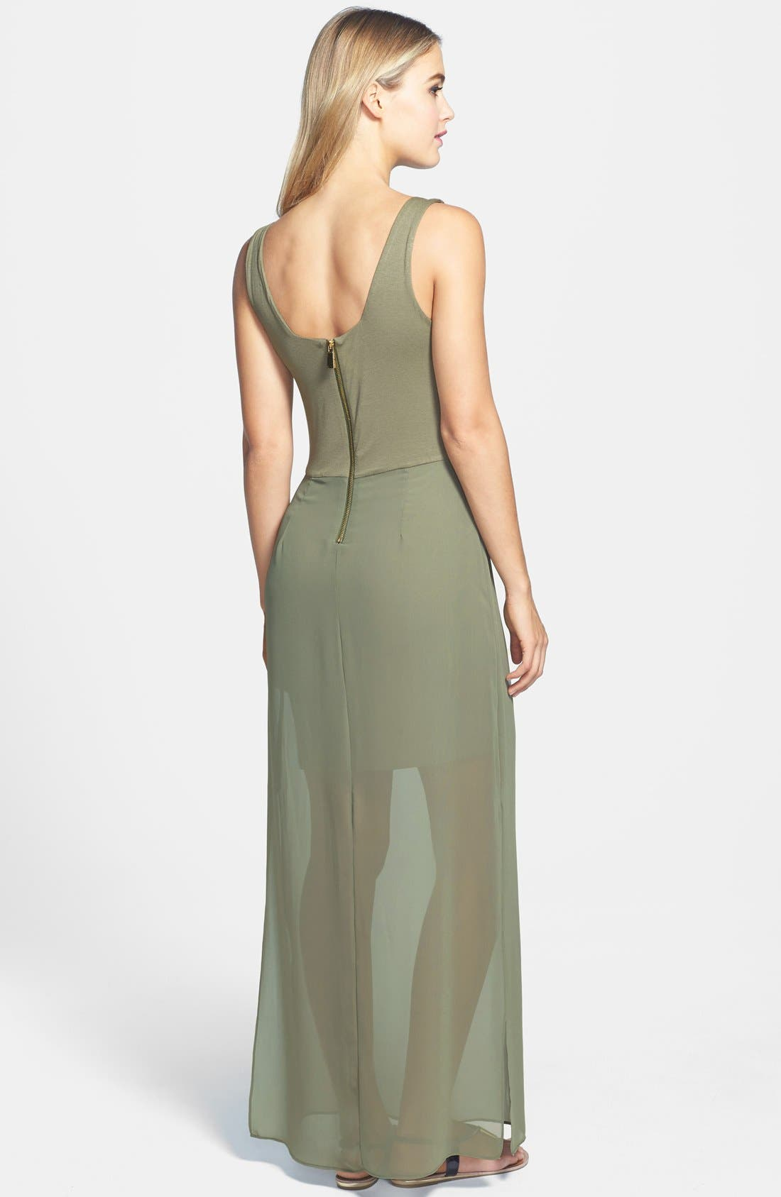 Alternate Image 2  - Two by Vince Camuto Chiffon Overlay Maxi Dress