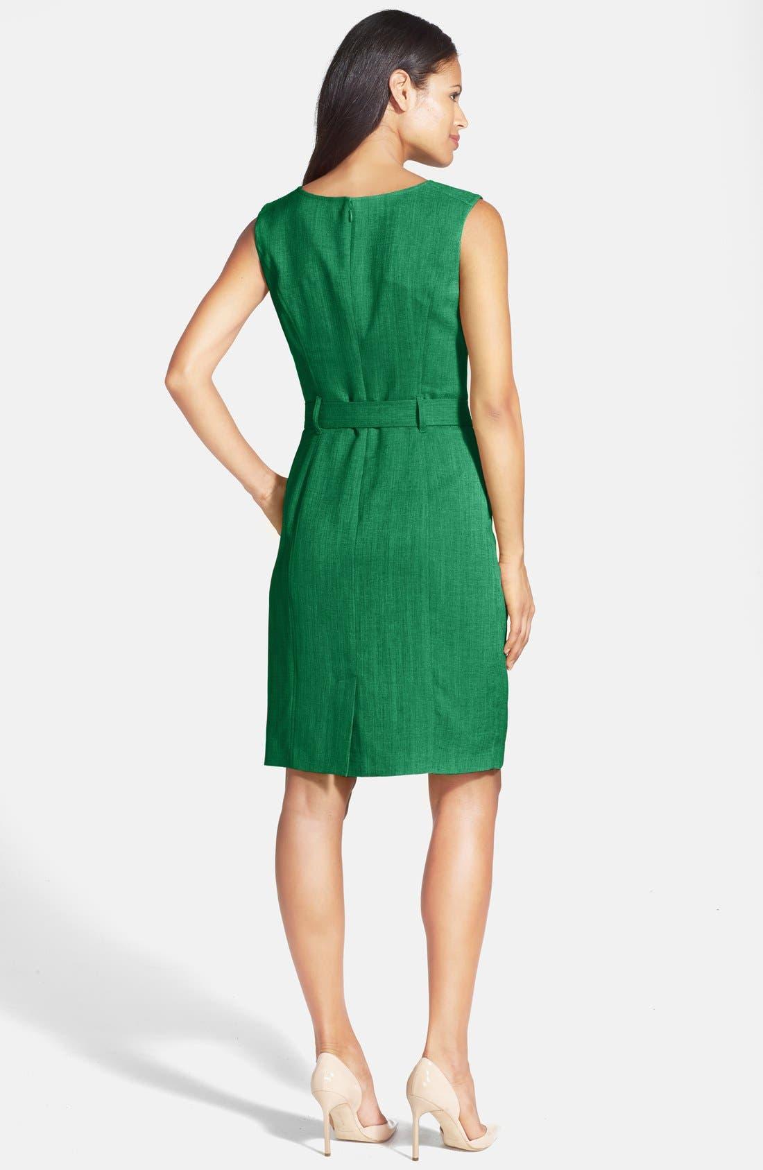 Alternate Image 2  - Ellen Tracy 'Kenya' Sleeveless Dress