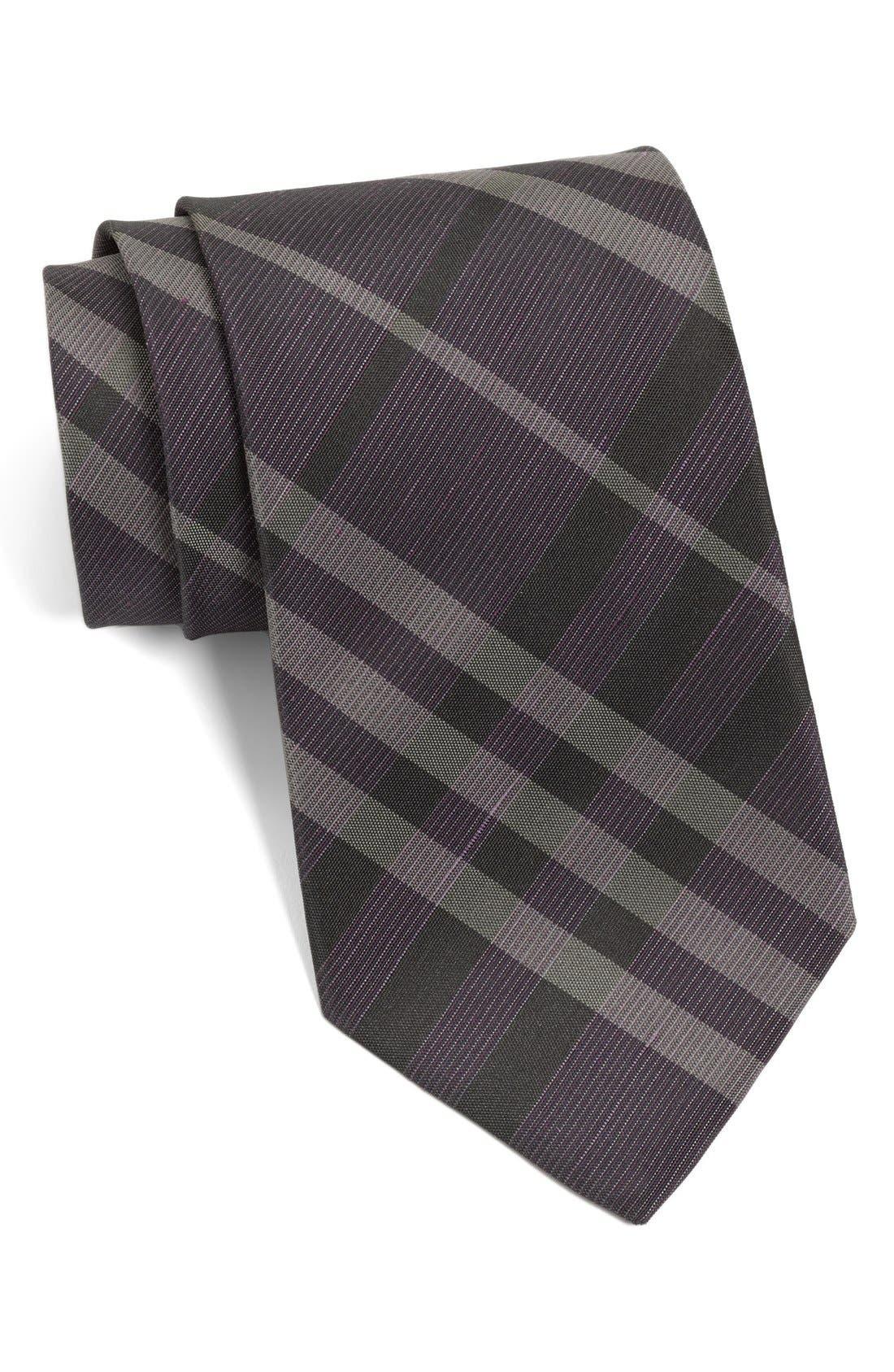 Alternate Image 1 Selected - Burberry London 'Regent' Woven Silk & Linen Tie