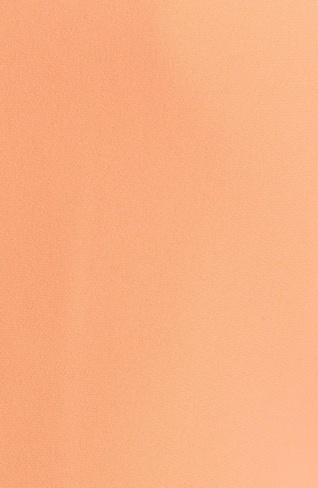 'Omelia' Ruffle Hem Stretch Sheath Dress,                             Alternate thumbnail 3, color,                             Light Orange