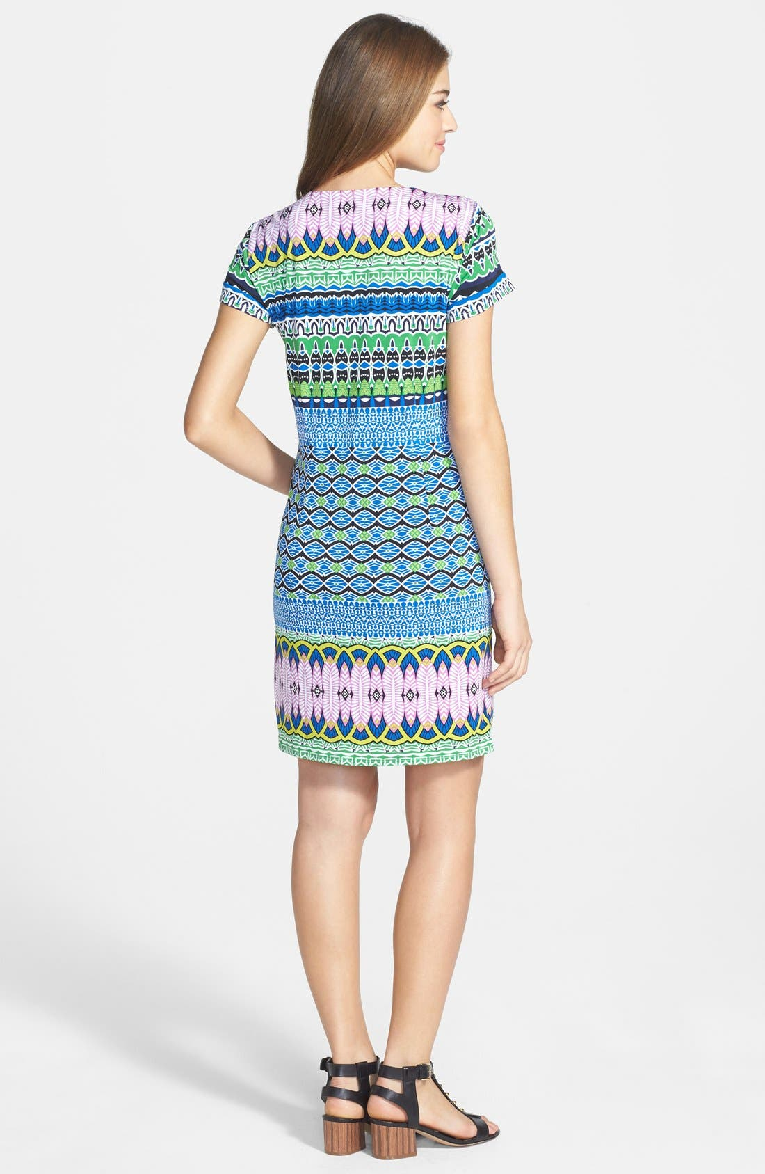 Alternate Image 2  - Laundry by Shelli Segal Print Matte Jersey Shift Dress (Petite)