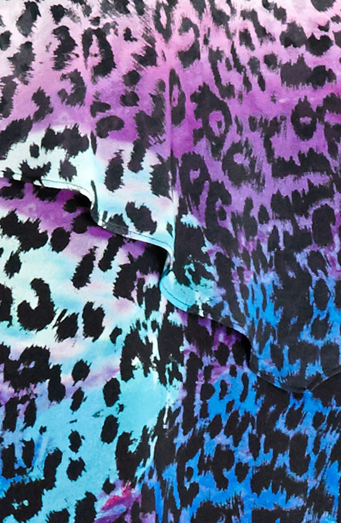 Alternate Image 3  - City Chic Purple Animal Print Top (Plus Size)