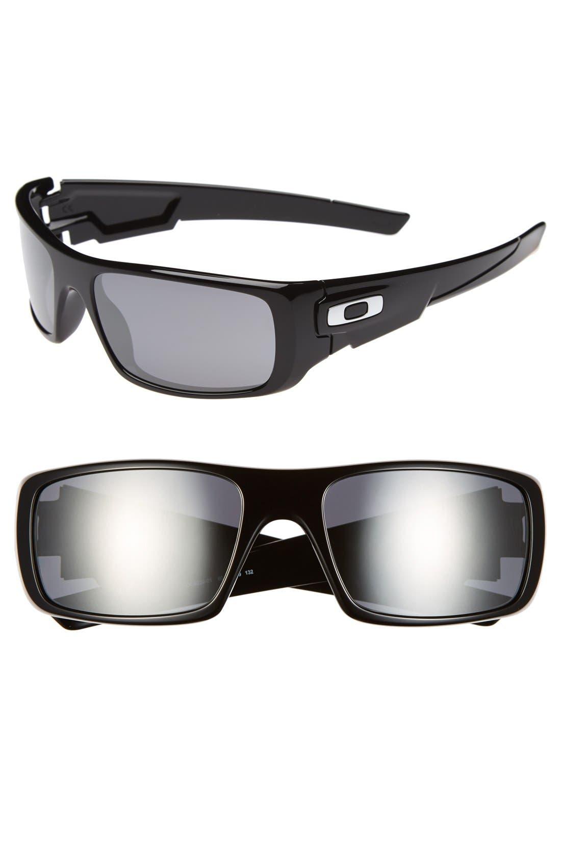 'Crankshaft' 60mm Sunglasses,                             Main thumbnail 1, color,                             Black