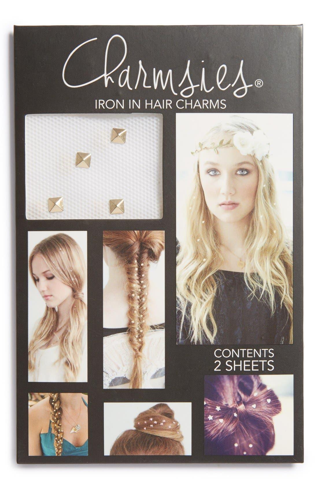Main Image - Charmsies Iron-In Pyramid Stud Hair Charms