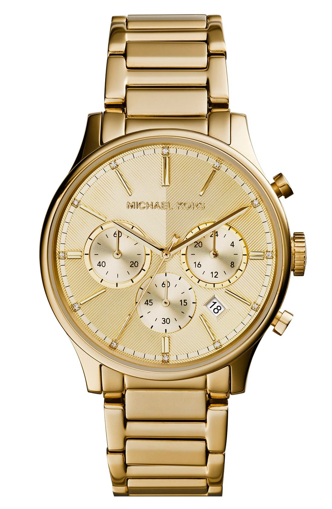 Alternate Image 1 Selected - Michael Kors 'Bailey' Chronograph Bracelet Watch, 39mm (Nordstrom Exclusive)