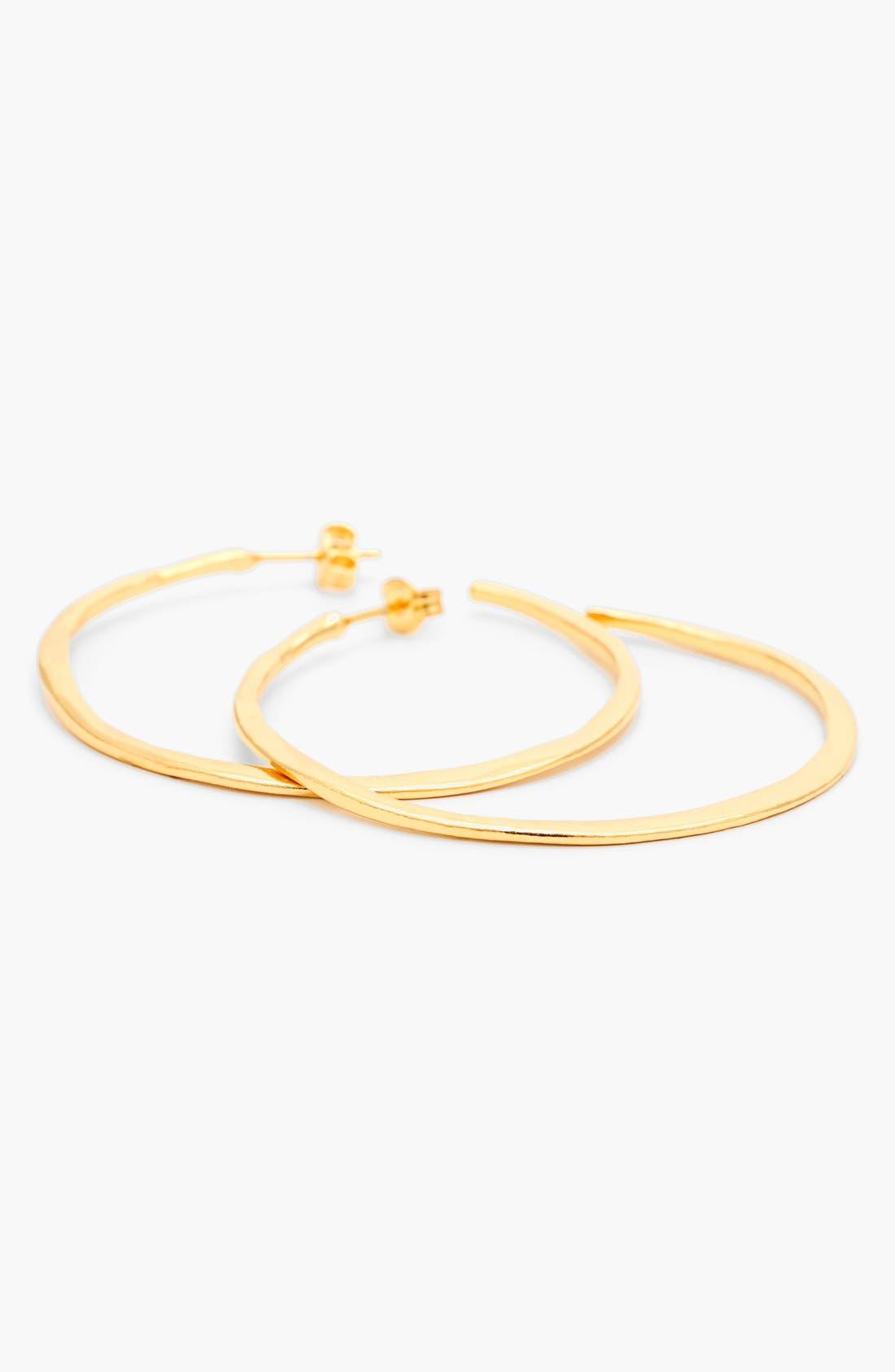 Alternate Image 3  - gorjana 'Arc' Hoop Earrings
