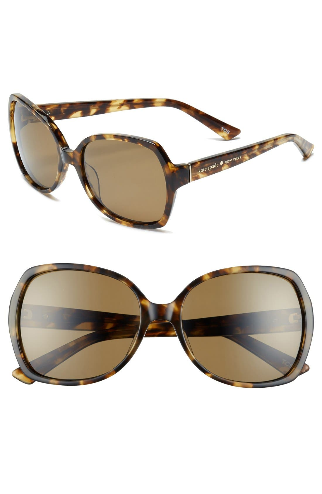 Alternate Image 1 Selected - kate spade new york 'halsey' 57mm polarized sunglasses