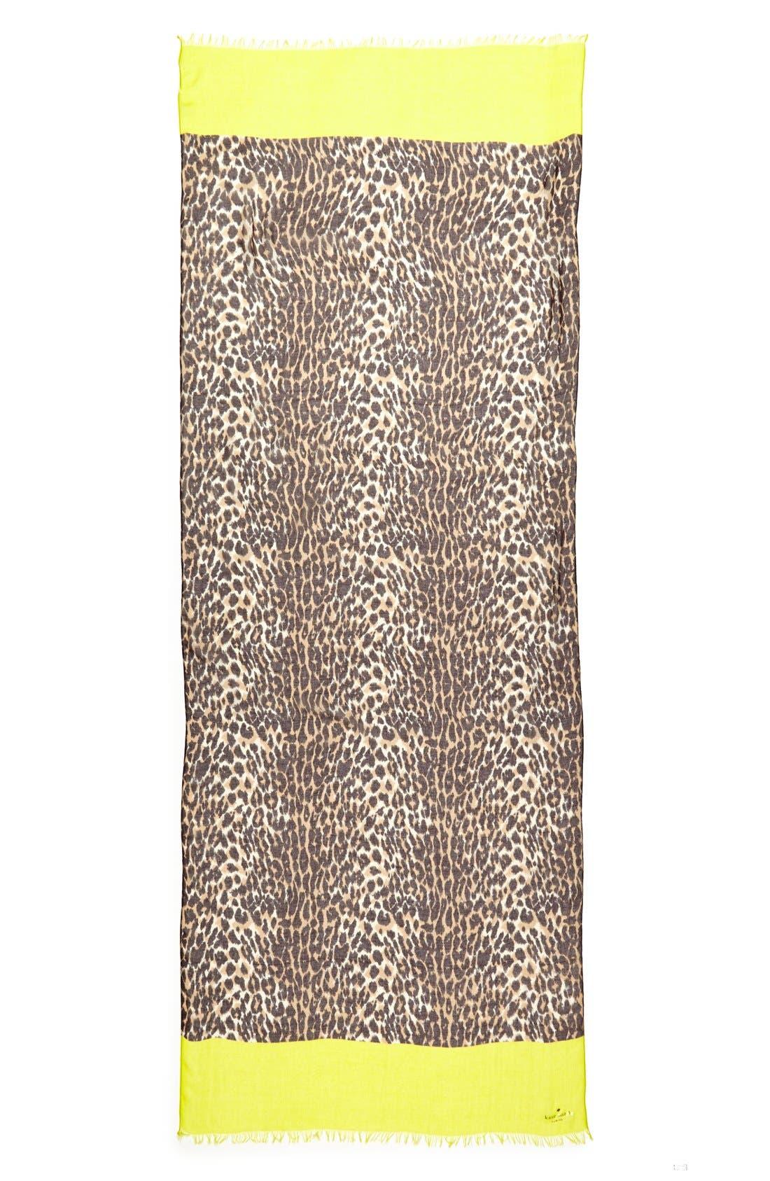 Alternate Image 2  - kate spade new york 'cuban leopard' scarf
