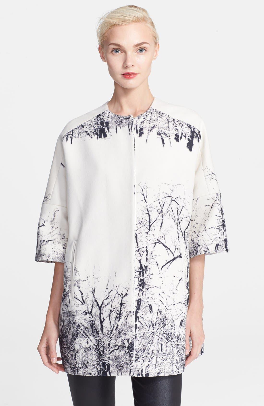 Main Image - Helene Berman Tree Print Kimono Coat