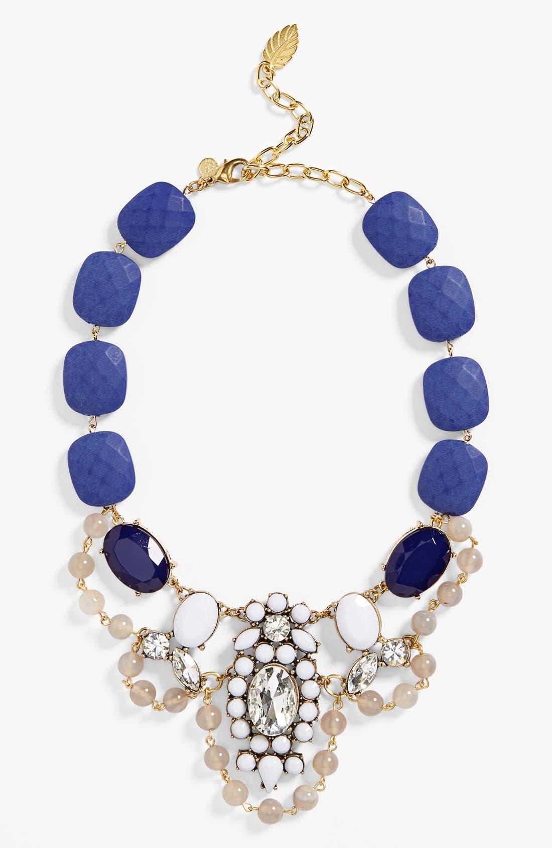 Alternate Image 1 Selected - David Aubrey 'Clara' Beaded Crystal Statement Necklace