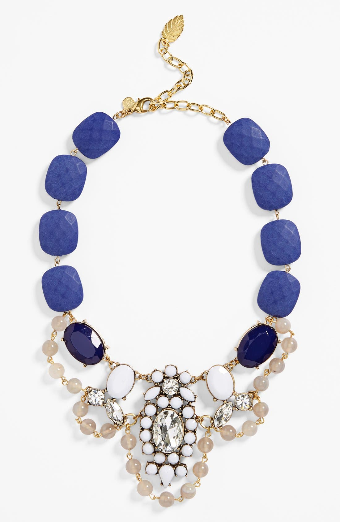 Main Image - David Aubrey 'Clara' Beaded Crystal Statement Necklace