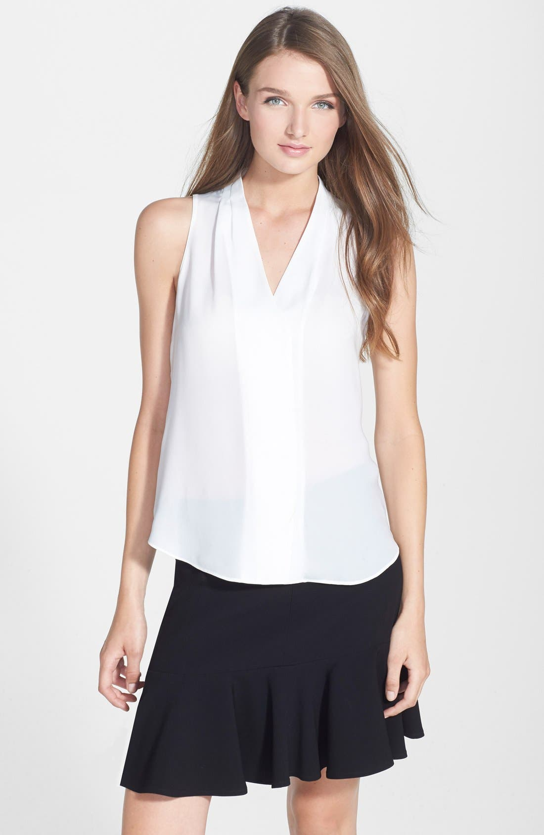 Main Image - Chelsea28 Sleeveless Pleated Top