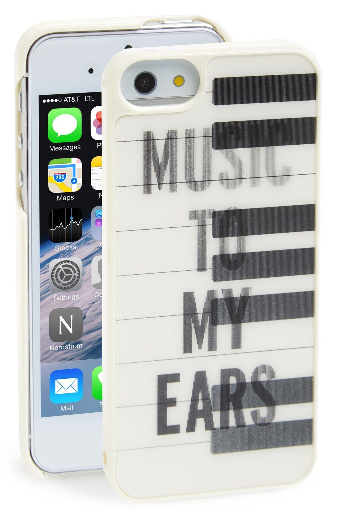 Alternate Image 1 Selected - kate spade new york 'lenticular piano keys' iPhone 5 & 5s case
