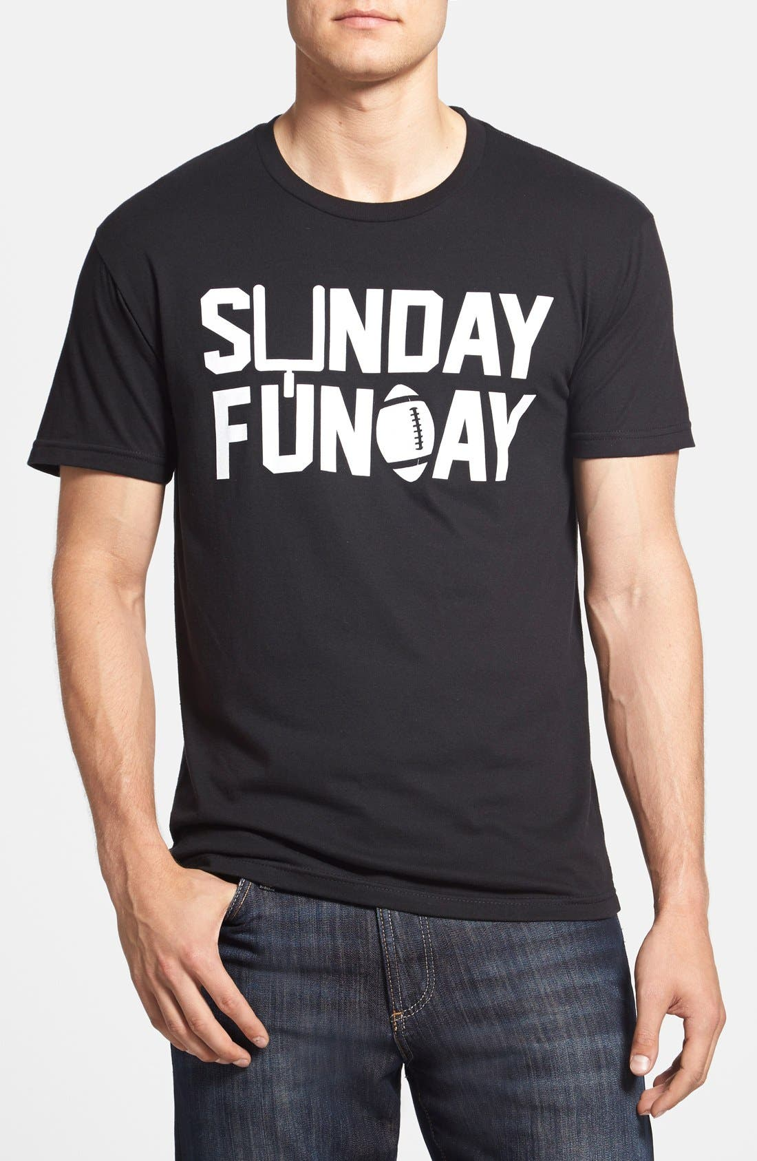 Alternate Image 1 Selected - Kid Dangerous 'Sunday Funday Football' Slim Fit T-Shirt (Online Only)