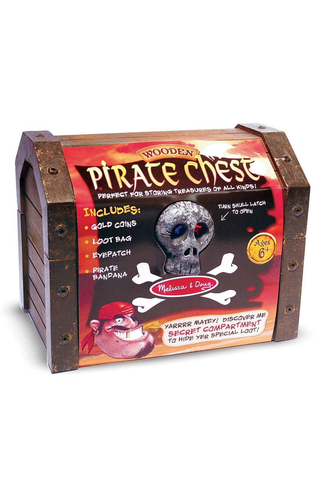 Personalized Pirate Chest,                             Alternate thumbnail 4, color,                             Black