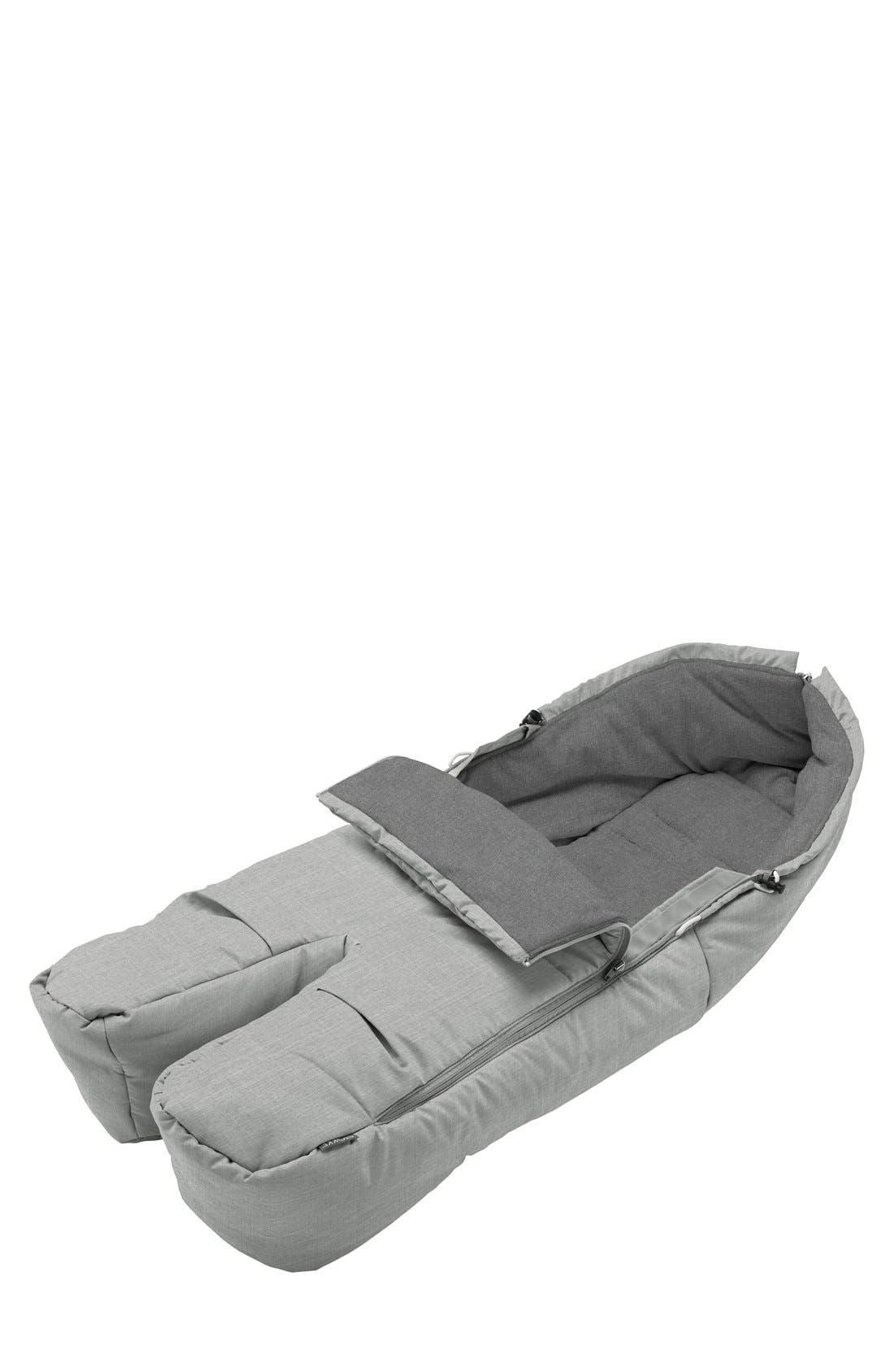 Stroller Footmuff,                         Main,                         color, Grey