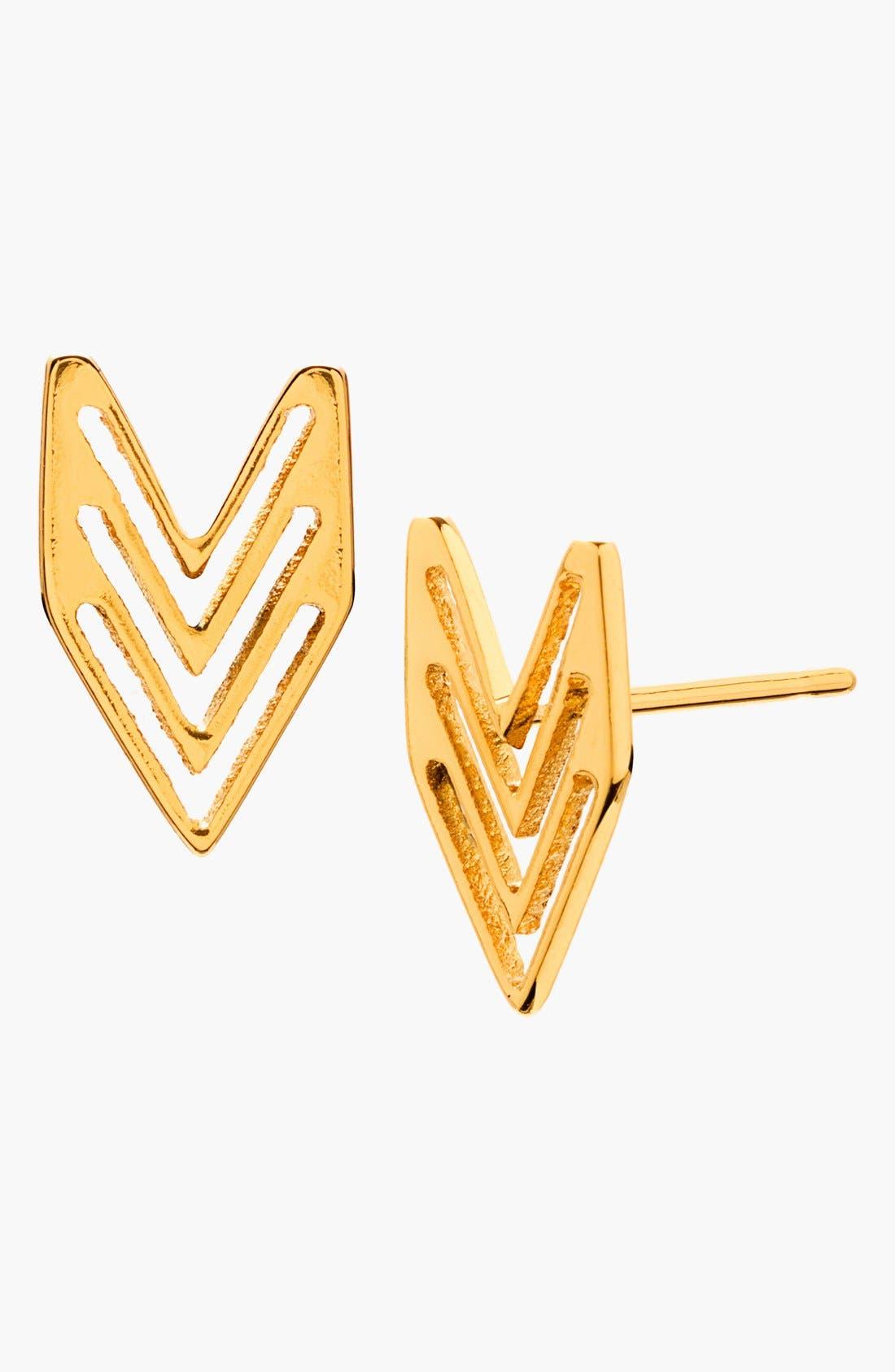Main Image - gorjana Chevron Stud Earrings