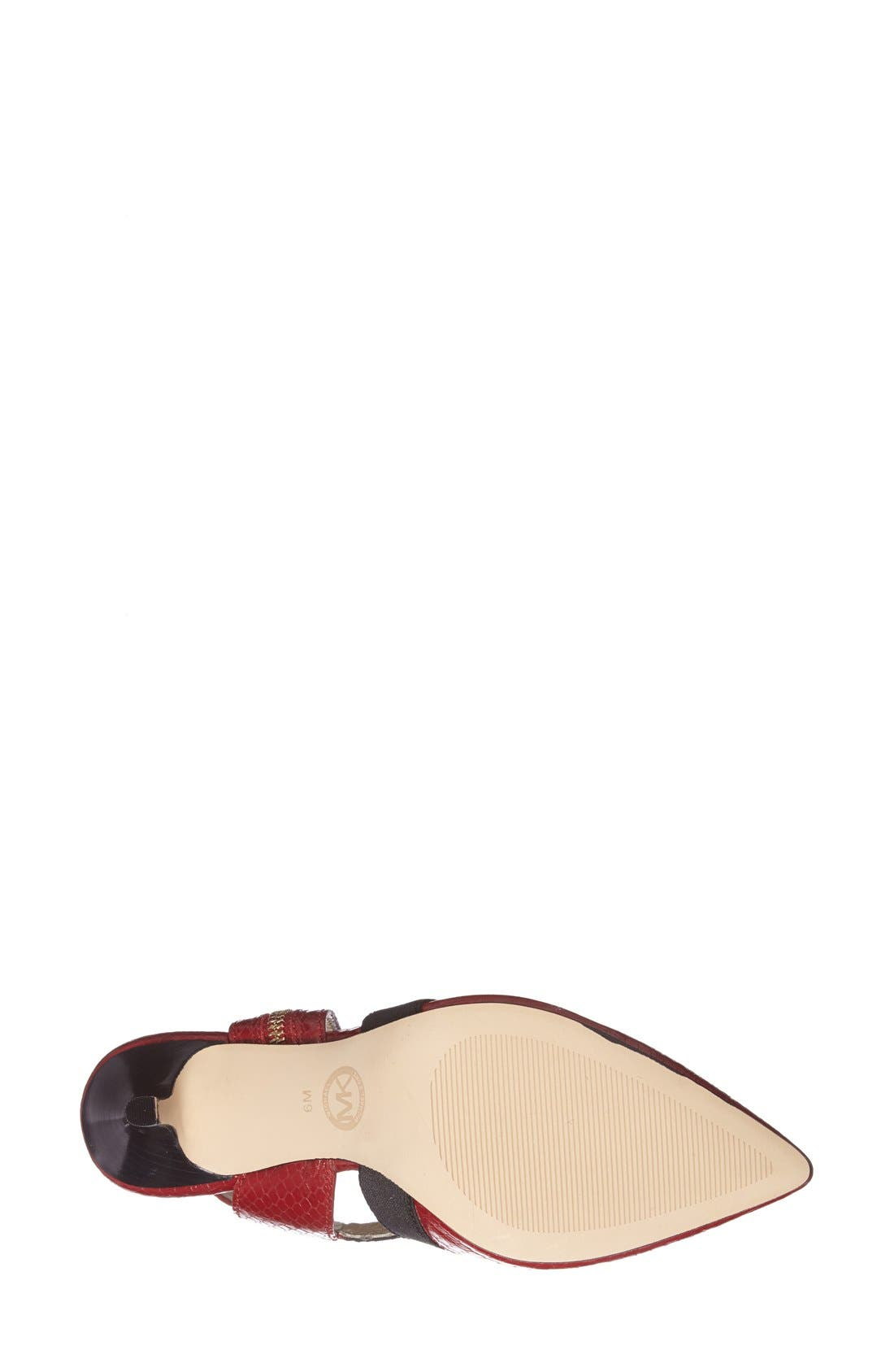 Alternate Image 4  - MICHAEL Michael Kors 'Meadow' Pointy Toe Pump (Women)