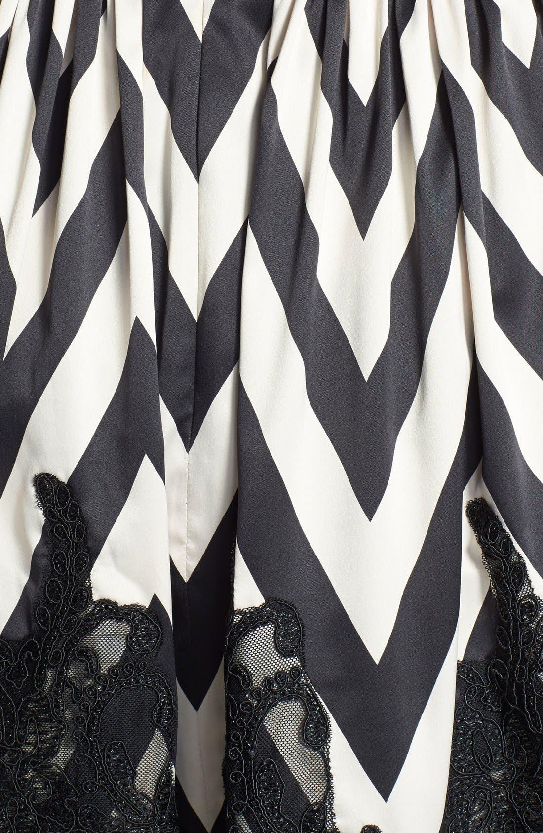 Alternate Image 4  - Eliza J Mixed Media Fit & Flare Dress