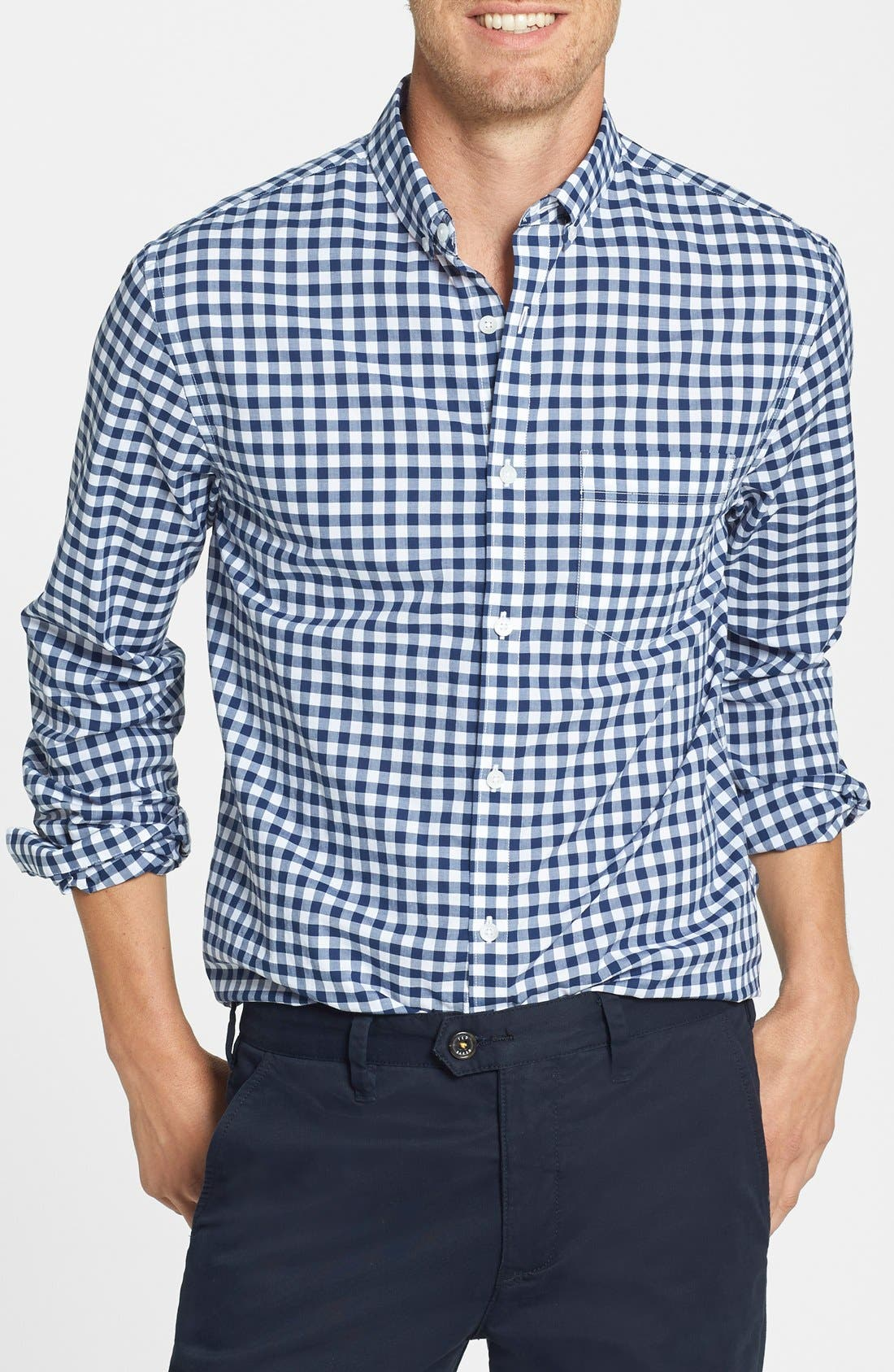 Alternate Image 1 Selected - Bonobos 'Ging Crosby' Gingham Standard Fit Sport Shirt