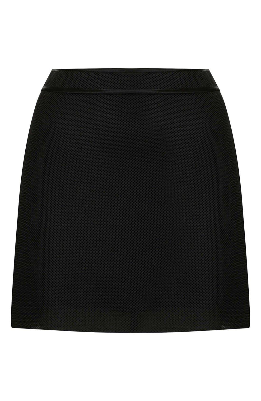 Alternate Image 3  - Topshop Airtex Miniskirt
