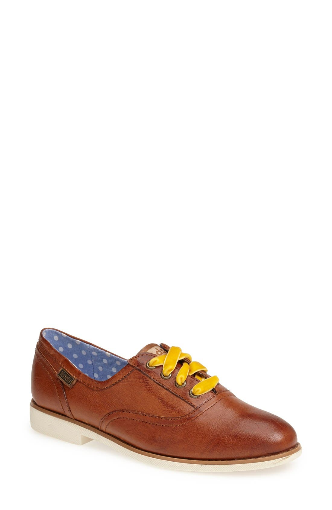 Alternate Image 1 Selected - Keds® 'Boyfriend' Leather Oxford (Women)