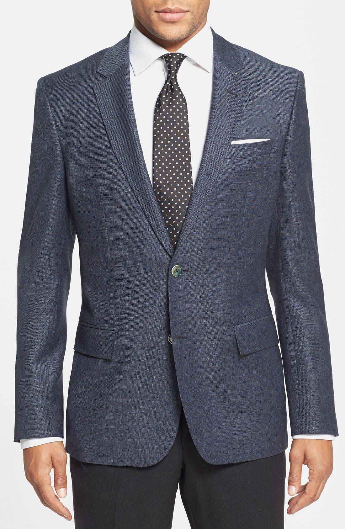 Main Image - BOSS HUGO BOSS 'Hutson' Trim Fit Wool Blazer