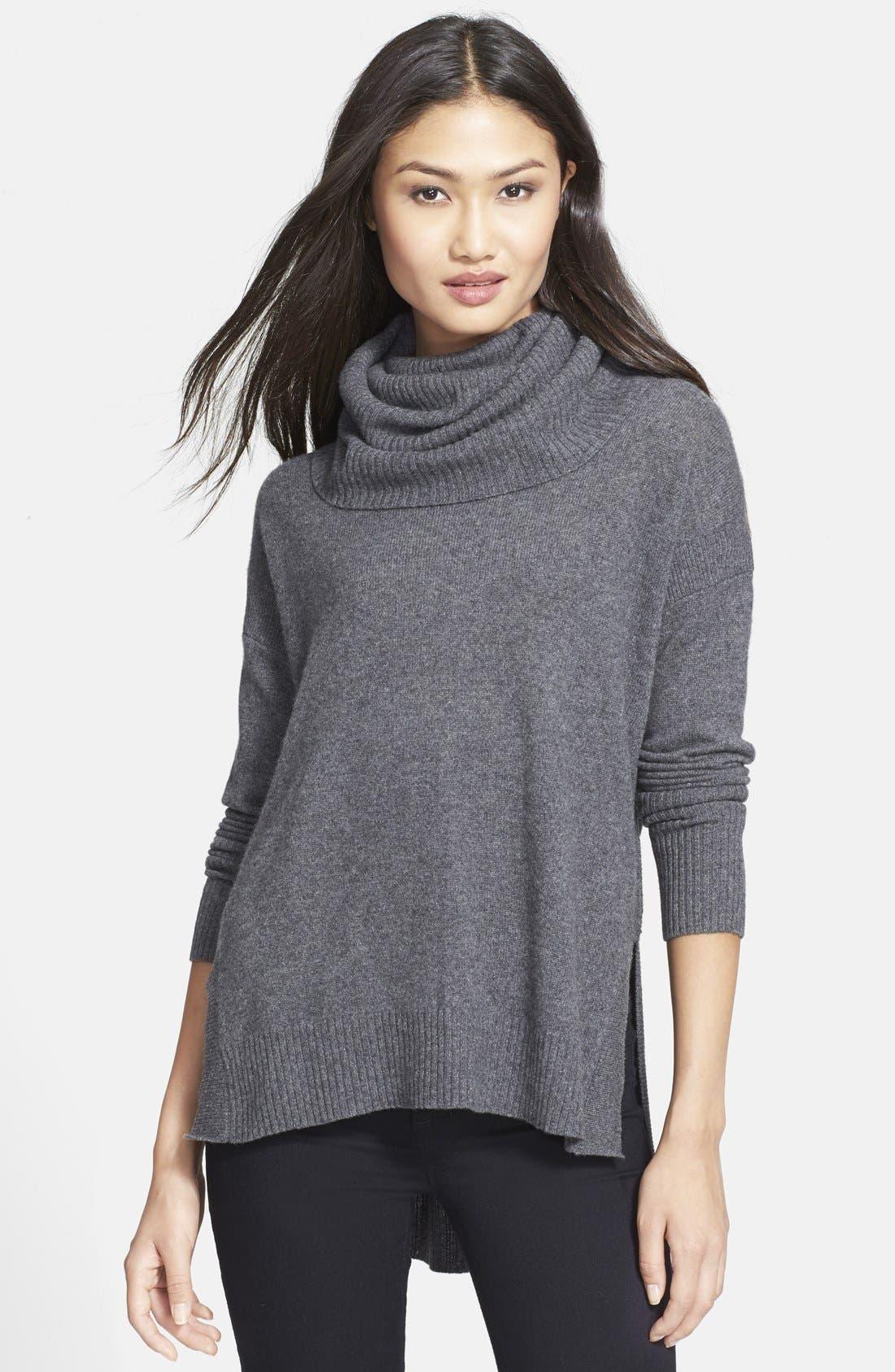 'Ahiga' Turtleneck Sweater,                             Main thumbnail 1, color,                             Medium Grey
