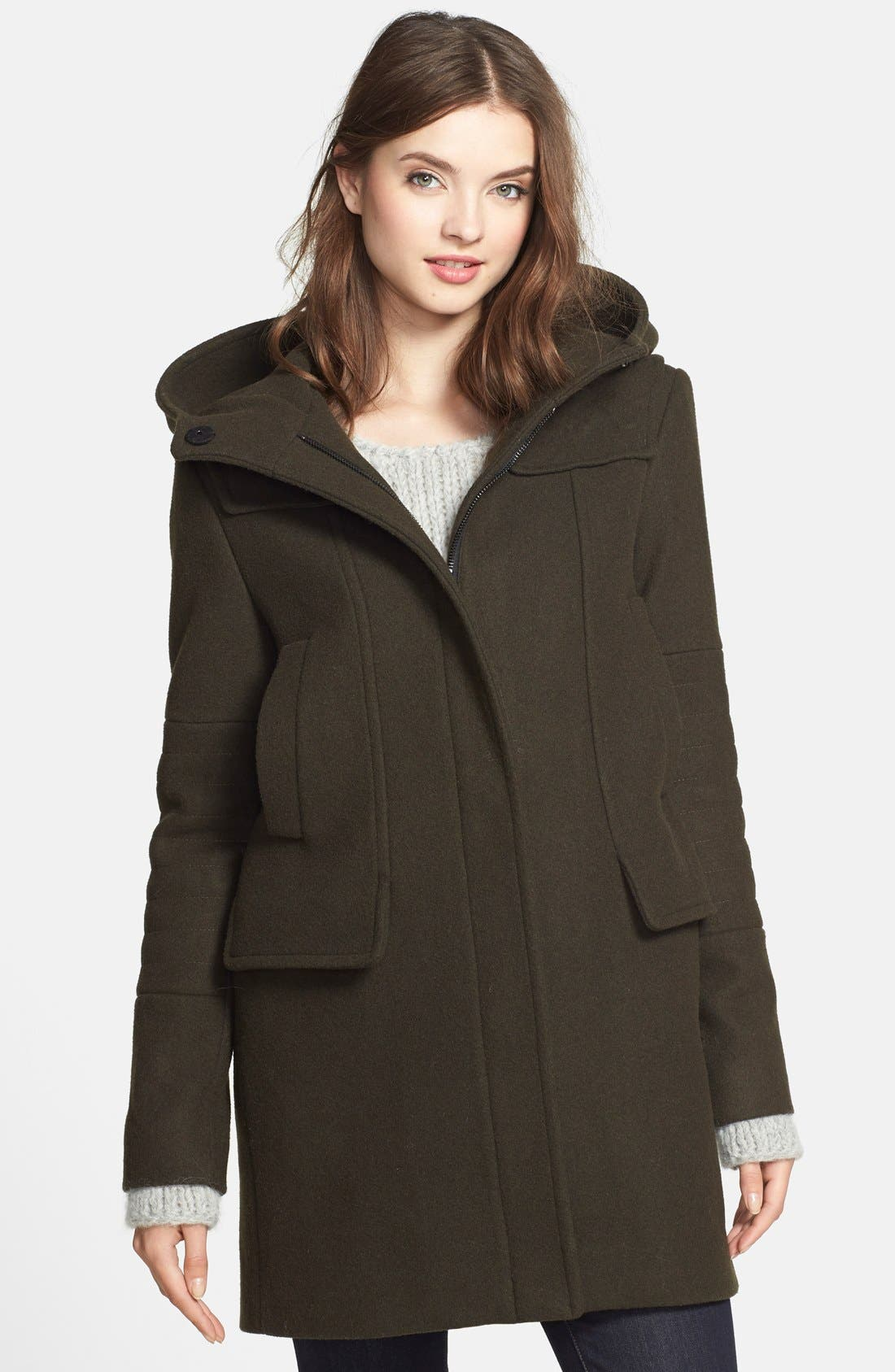 Main Image - Vince Camuto Wool Blend Duffle Coat
