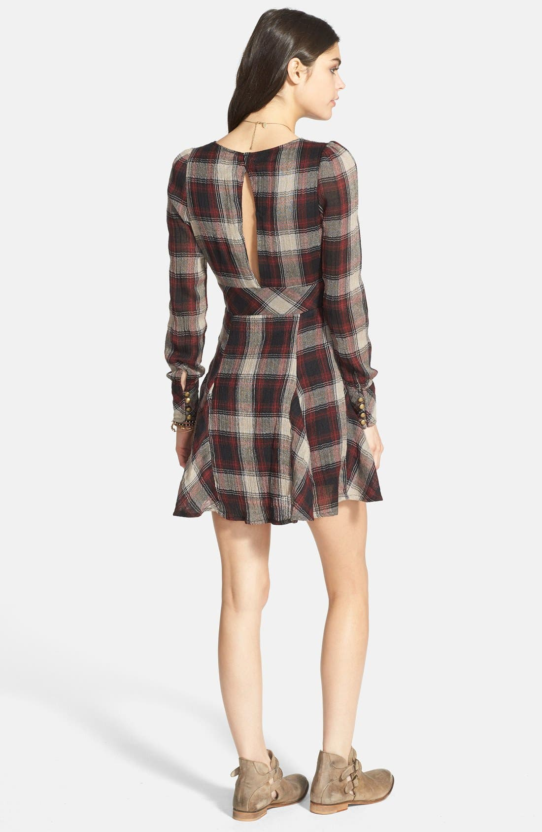 Alternate Image 2  - Free People 'Teen Spirit' Plaid Minidress