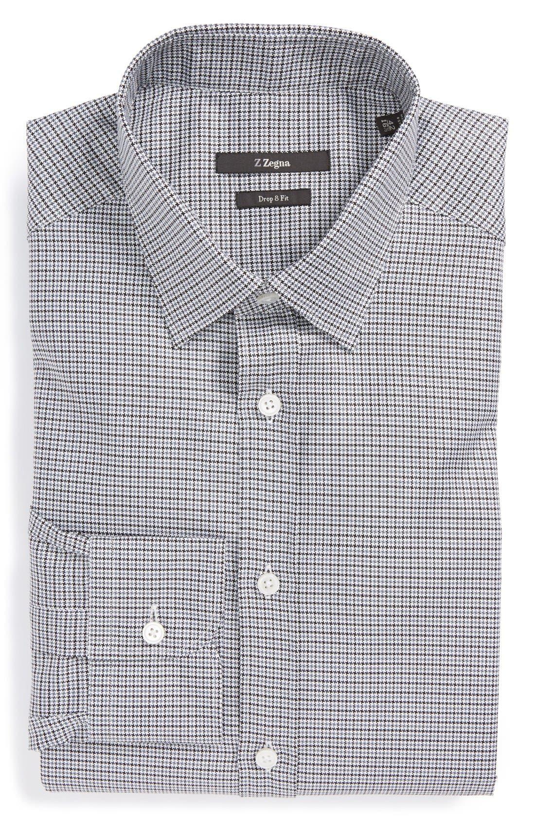 Alternate Image 1 Selected - Z Zegna Slim Fit Houndstooth Dress Shirt