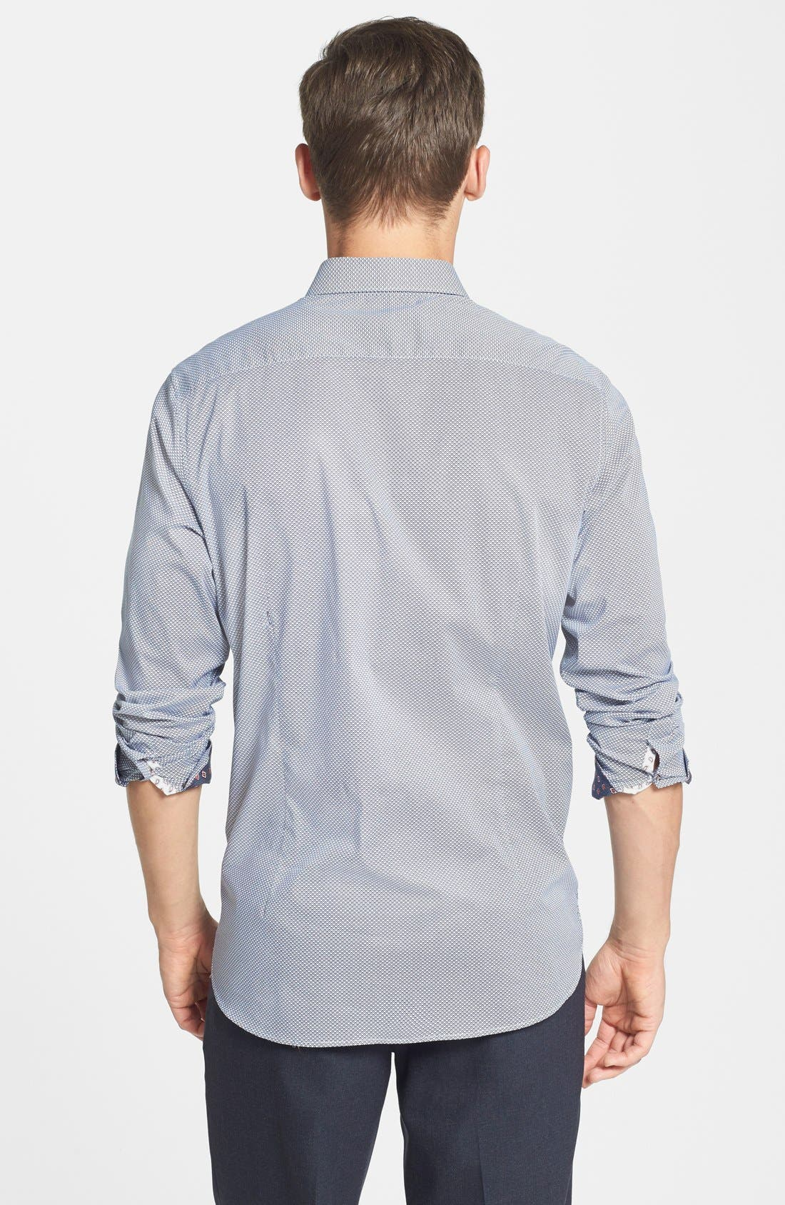 Alternate Image 2  - Ted Baker London 'Bablong' Trim Fit Geometric Sport Shirt