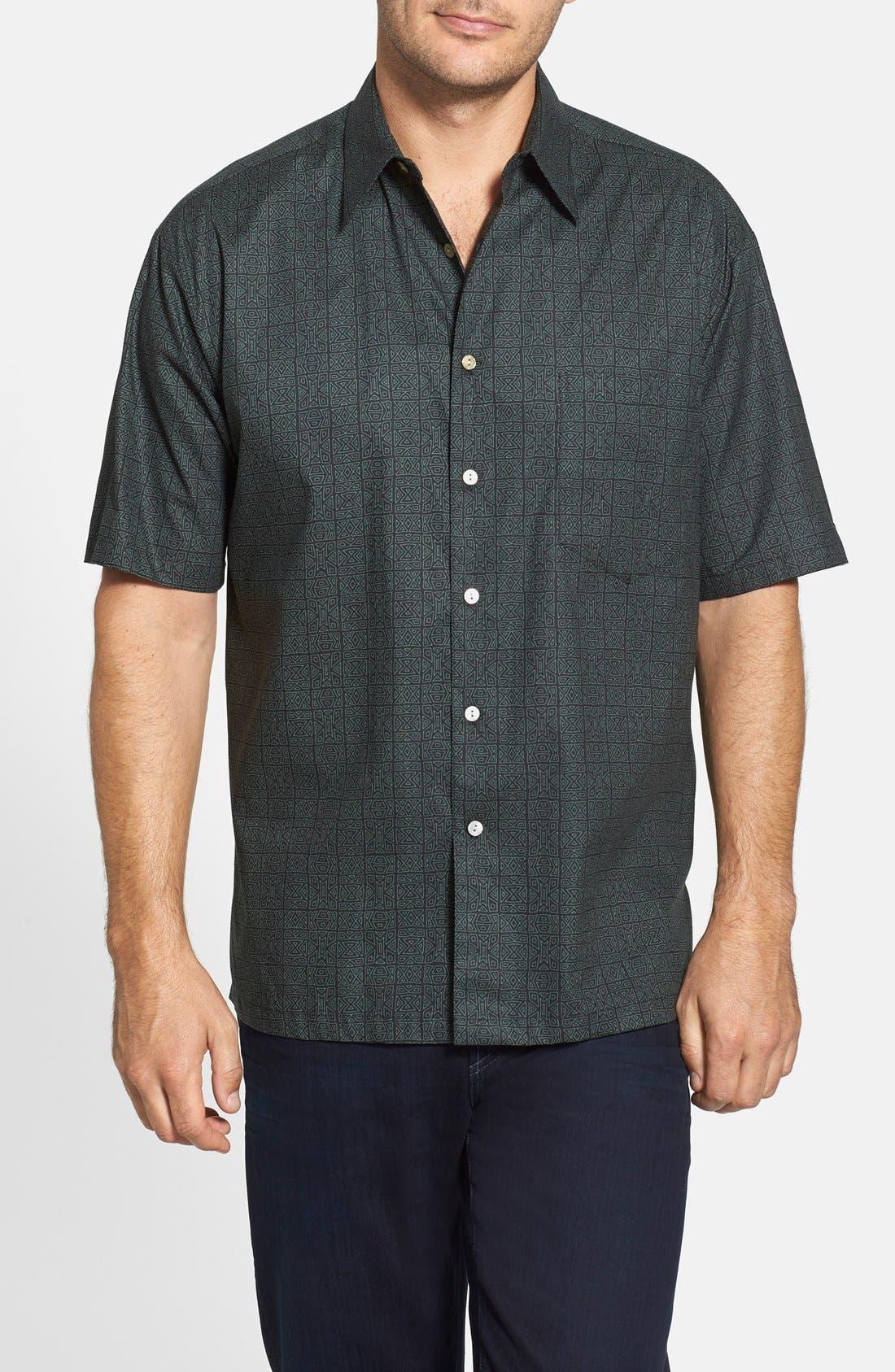 Alternate Image 1 Selected - Tori Richard 'Tribal Code' Cotton Lawn Campshirt