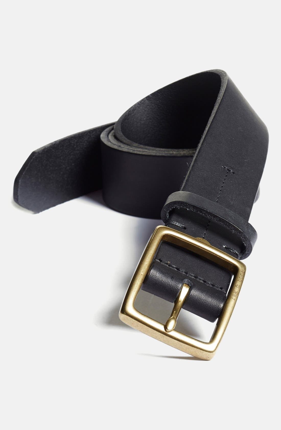 rag bone rugged leather belt nordstrom