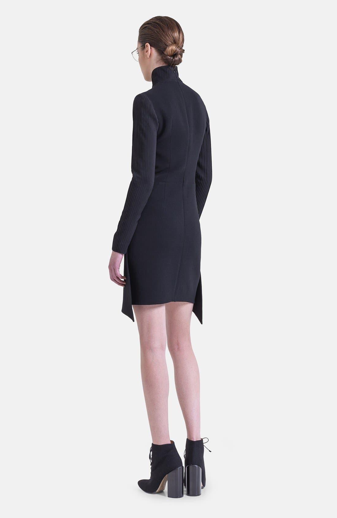 Alternate Image 4  - Akris Long Sleeve Silk Plissé Detail Dress