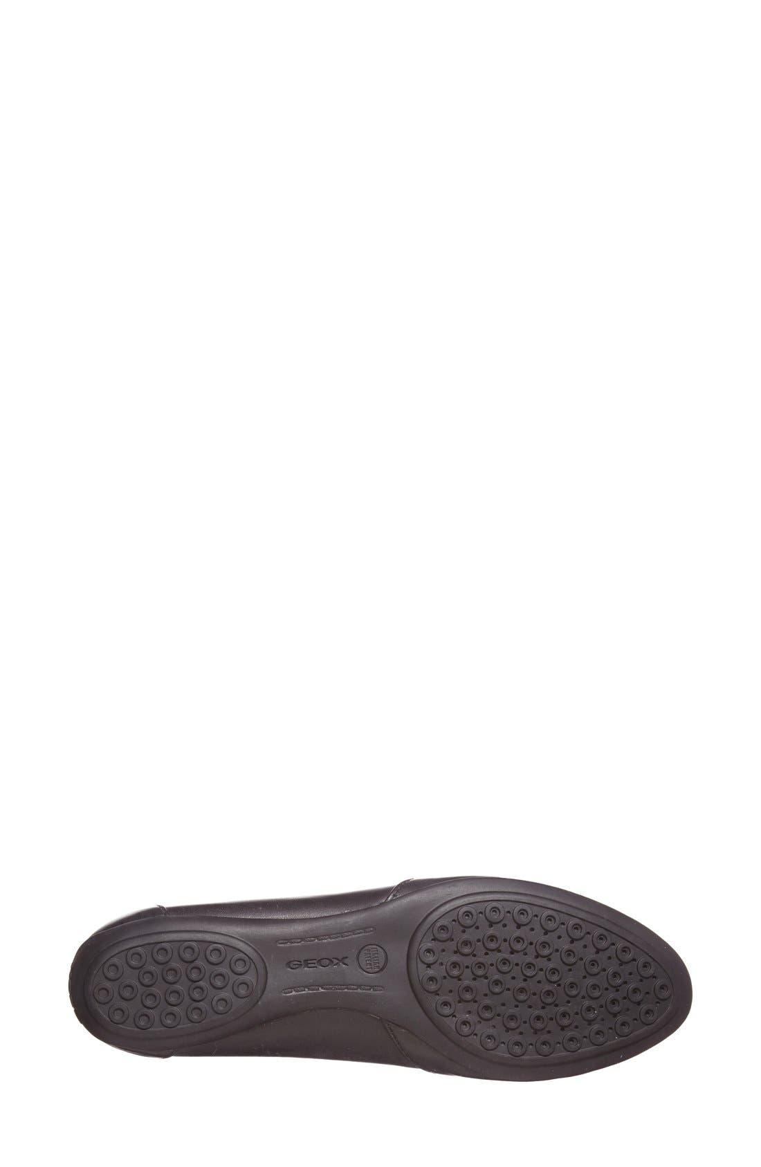 Alternate Image 4  - Geox 'Charlene' Leather Flat (Women)