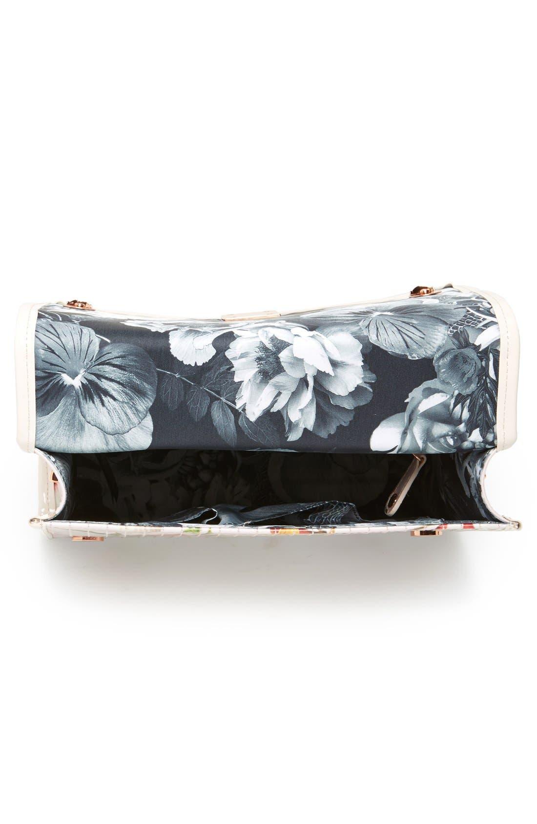 'Botanical Bloom' Crossbody Bag,                             Alternate thumbnail 3, color,                             Pale Pink