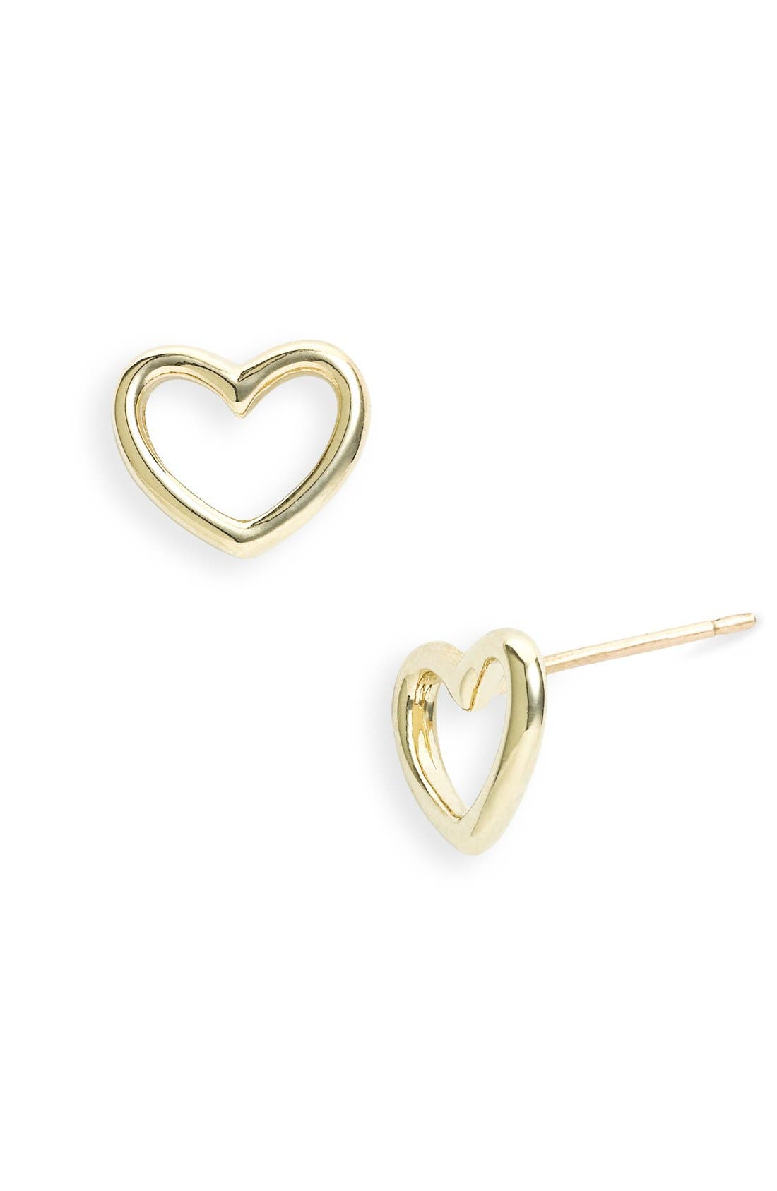 Main Image - MARC BY MARC JACOBS 'Love Edge' Heart Stud Earrings