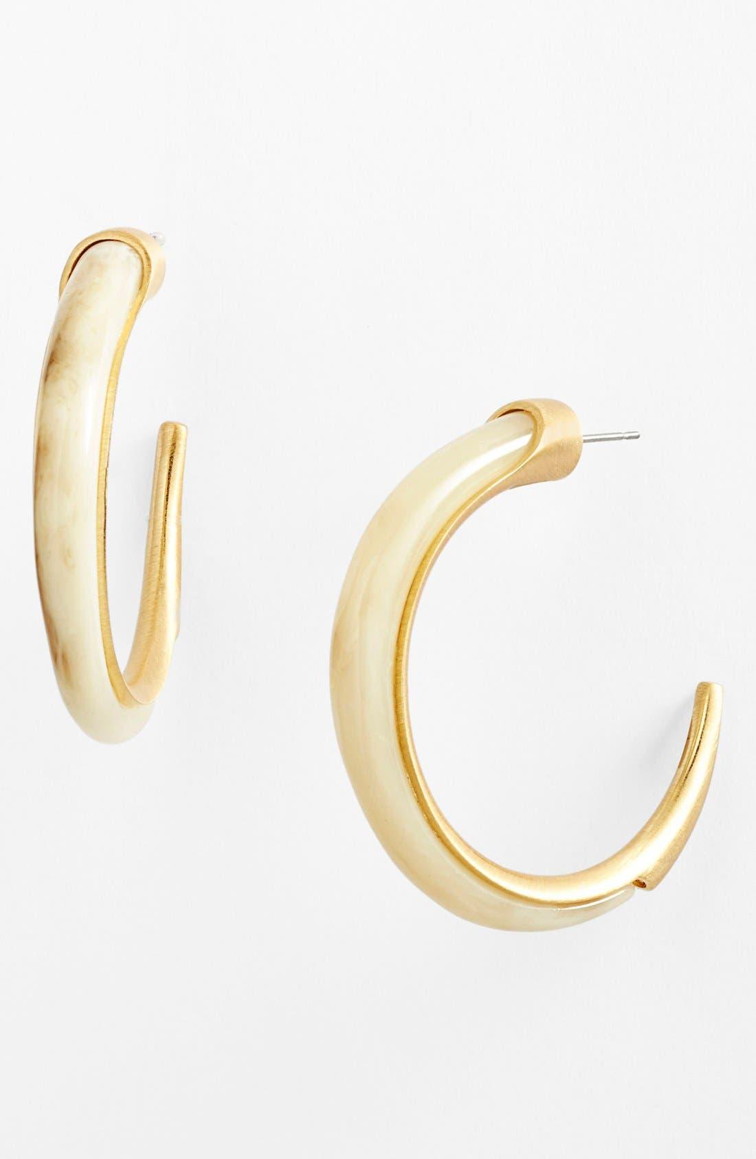 Alternate Image 1 Selected - Vince Camuto 'Thorns & Horns' Hoop Earrings
