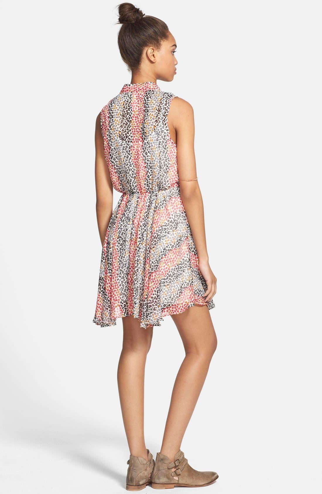 Alternate Image 2  - Mimi Chica Sleeveless Surplice Dress (Juniors)